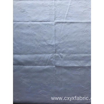 Polyester white 3d emboss fabric for home textile