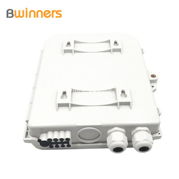 Wall Mounted Outdoor 8 Core Fiber Distribution/ Termination Box With Pigtails & Adapters
