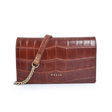 Minimalist Purse Leather Clutch Bag Everyday Purse Croc