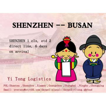 Shenzhen Sea Freight to Busan