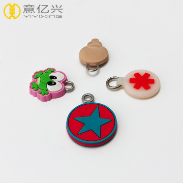 Soft pvc zipper puller with custom logo