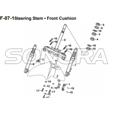 F-07 Steering Stem Front Cushion for XS175T SYMPHONY ST 200i Spare Part Top Quality