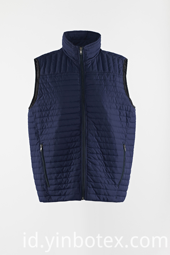 quilted solid vest