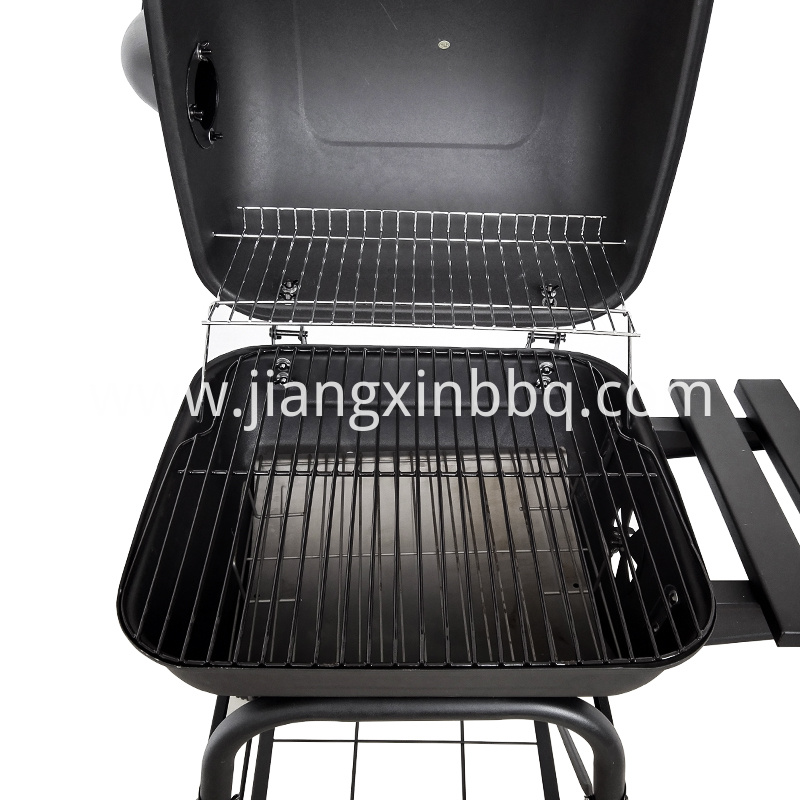 Mini Barrel Charcoal Grill Cooking and Warming