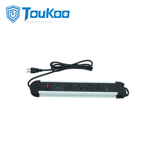 Factory directly supply for 4 Gang Power Strip 4 way surge protector power strip with USB export to France Factories