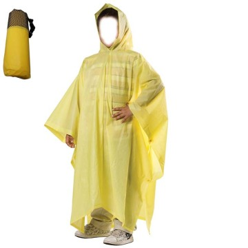 Unisex PEVA Emergency Rain Poncho Cover for Children