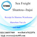 Shantou Port LCL Consolidation To Itajai