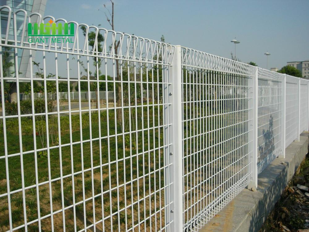 Metal fence with triangle
