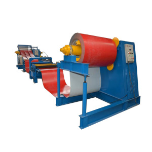 Color Steel Coil Uncoiling Slitting Cutting Recoiling Line