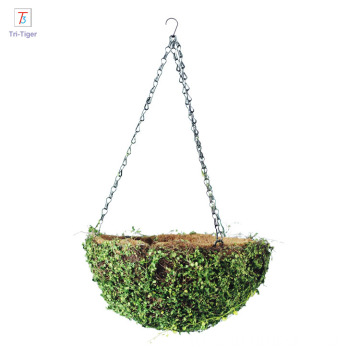 Green natural straw bird nest for garden decoration