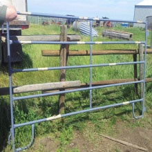 Black 3 Rail Metal Horse Fence Panel