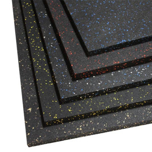 Wholesale Price for Interlocking Rubber Flooring Good 15% Fleck Gym Floor Mats supply to Portugal Suppliers