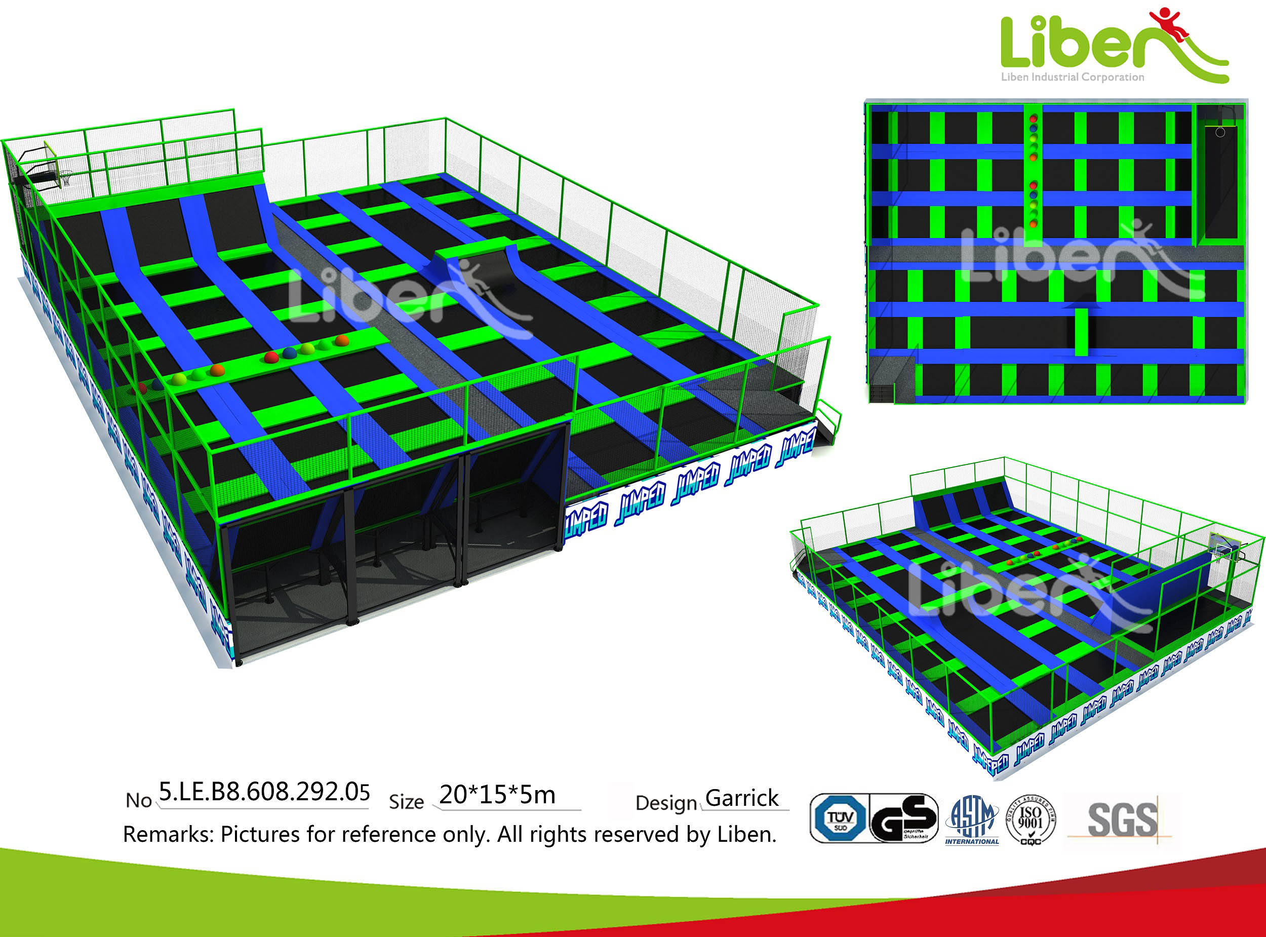 design of outdoor trampoline park
