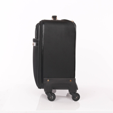Low price scratch resistant PU leather luggage bags