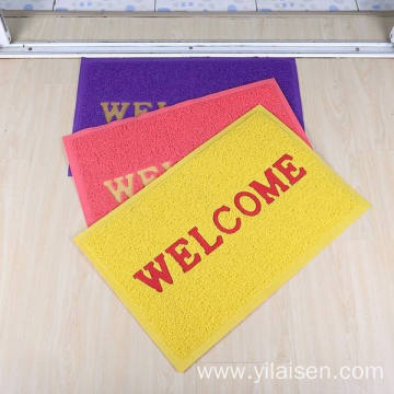 Designed with welcome logo PVC coil door mat