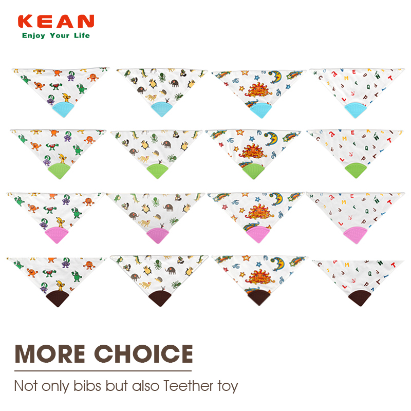 Multi Color Baby Teething Bibs