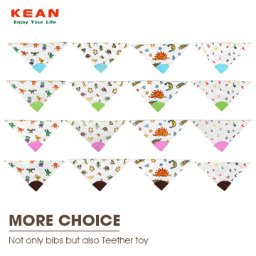 100% Organic Cotton Baby Teething Bibs