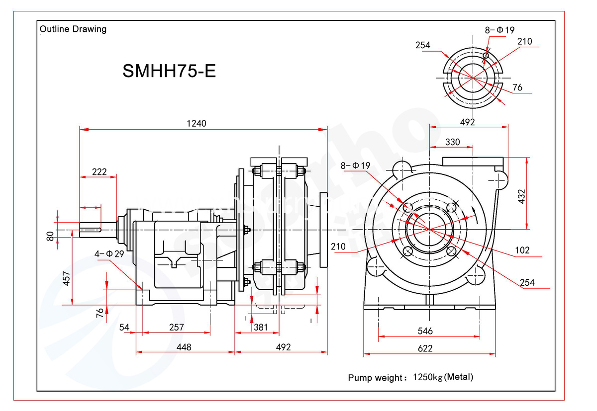 SMM75HH-E outline drawing