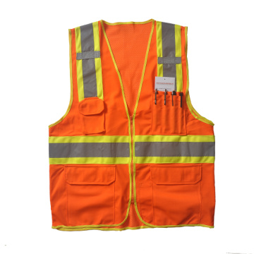 Safety vest with pencil pockets