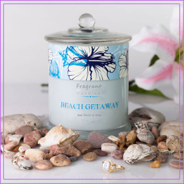 Beach Scented Colored Metro Glass Jar Candles