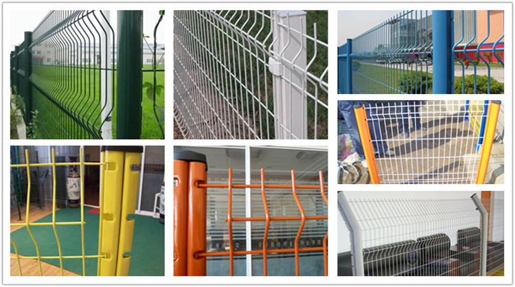 3D Wire Mesh Fence Panel With Dovetalil Post