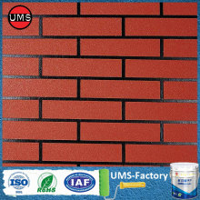 Red brick wall effect spray paint