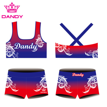 Personlized Products for Cheerleading Practice Wear cross behind ombre cheer practice uniforms supply to Gabon Exporter