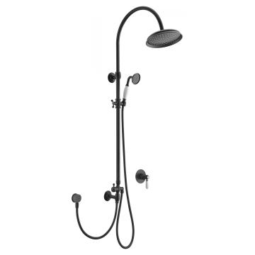 Classic Matt Black Brass Shower Set
