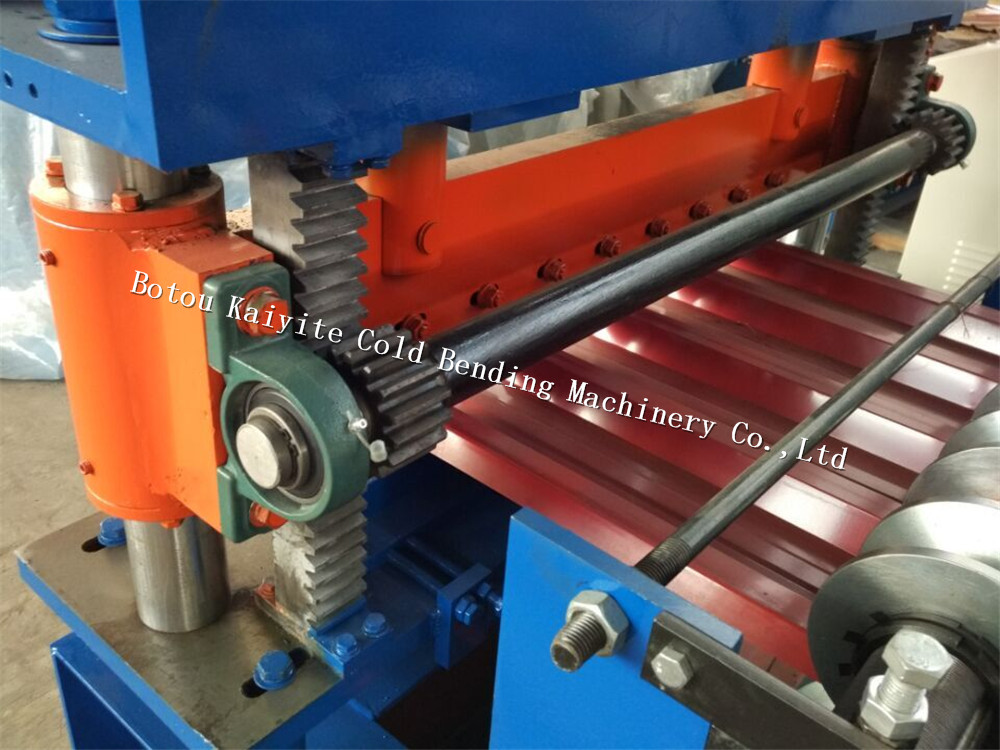 Security steel wall cladding trapezoid roll forming machine