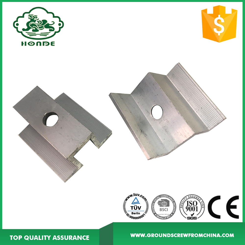 Metal Roof Aluminum Rails Accessories For Solar Brackets