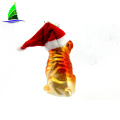Wholesale glass dog ornaments with a Christmas cap