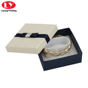 Bracelet Gift Box Lid ug Ribbon Bow Design