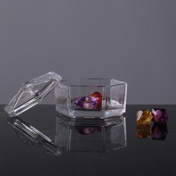 Hexagon Transparency Container/Box/Jar For Candy Jewelry