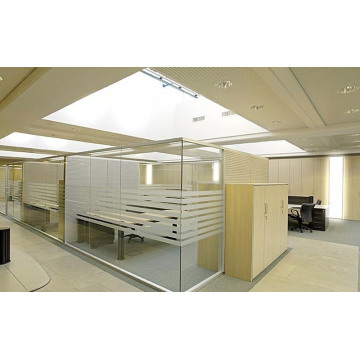 frosted glass partition low height office partition