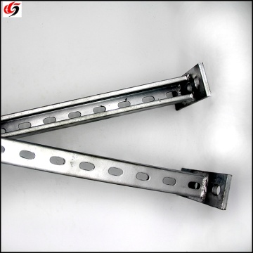 seismic bracing support arms metal steel Q235 galvanized c channel arms