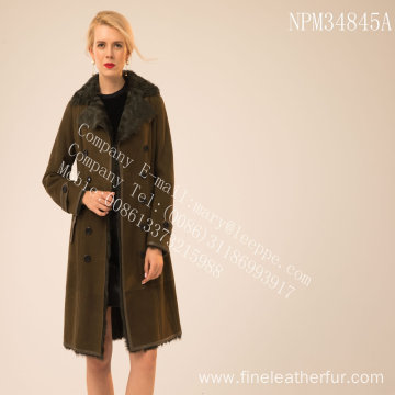 Reversible Winter Women Shearling Coat