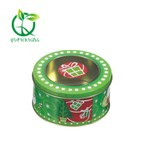 Decorative round christmas tins