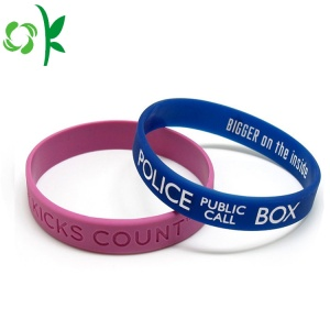 Engraved Filled Multicolor Strap Slap-up Silicone Wristbands