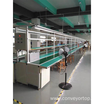 Belt Conveyor Assembly Line with Workbench