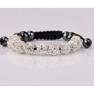 10mm Shamballa Bead Jewelry With Crystal Pave Beads Bracelet