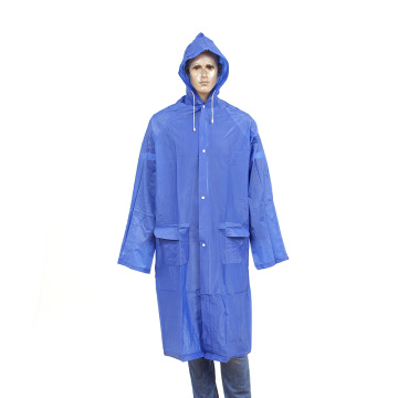 reuseable long  pvc raincoat