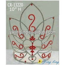"Customized for Rhinestone Pageant Crowns 10"" Large Wholesale Heart Pageant Crown export to Greenland Factory"