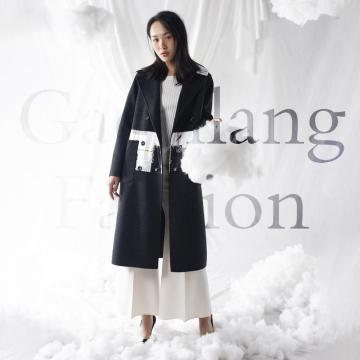 Professional draping style overcoat