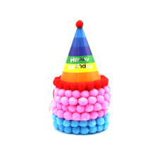 Color birthday party hat for children