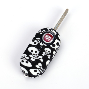 Skull Color Fob remore cover for Fiat
