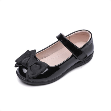Children Cute Black Leather Shoes