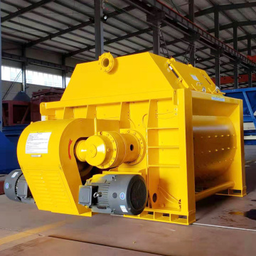 JS1000 self-loading double shaft concrete mixer price