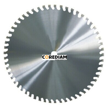 Laser welded reinforced concrete wall saw blade