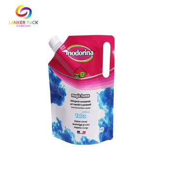 Custom Laminated Material Spouted Pouch For Detergent
