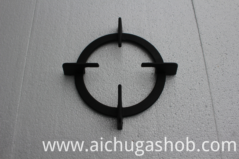 circle support for glass panel gas hob with multi-burners style